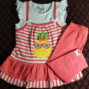 Tunic capri set. Girls size 6